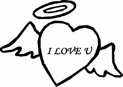 Heart Coloring Pages Angel Colouring Sheets Valentine