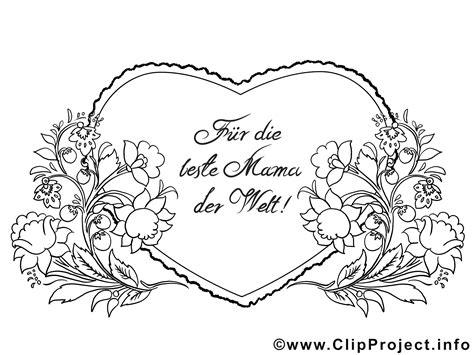 Blumenranken Herz Für Mutter  Ausmalbilder Zum Muttertag