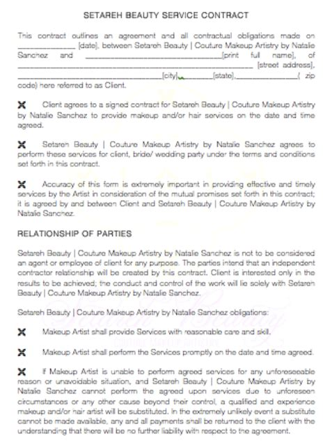 makeup artist contract form 4 questions to ask your makeup artist emily katherine events