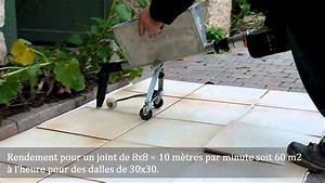 joints sols et margelles avec le combi crepi joint youtube With joint polymere dalle terrasse