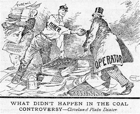 Cartoon Comments On The Coal Strike And Its Settlement