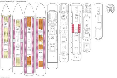 deck plans costa neoclassica deck plans diagrams pictures video