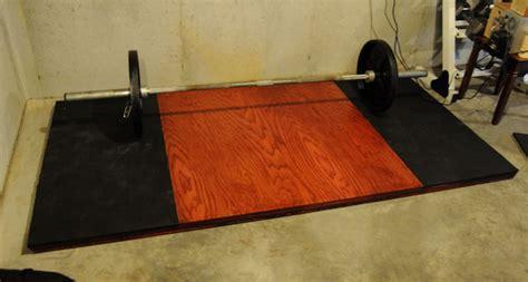 homemade deadlifting platform
