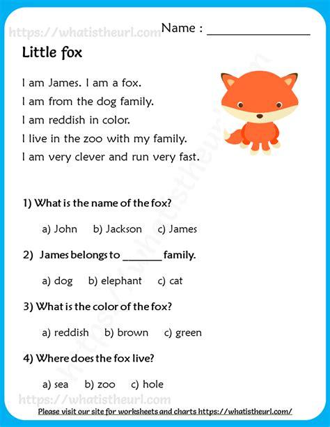 fox reading comprehension  grade   home