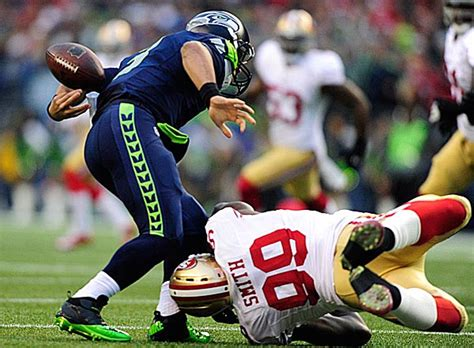 russell wilson fumbles    play  seahawks ers