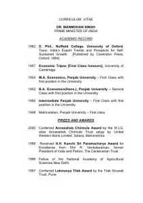 resume of manmohan singh manmohan singh resume