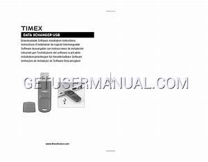 Timex Montres Data Xchanger Mode D U0026 39 Emploi T U00e9l U00e9chargement Libre