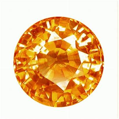 Sapphire Orange Grade Round Aaa Mm Gems