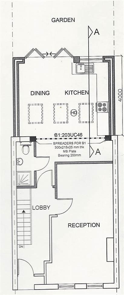 Plan Floor Drawing Velux Skylights Extension Ground