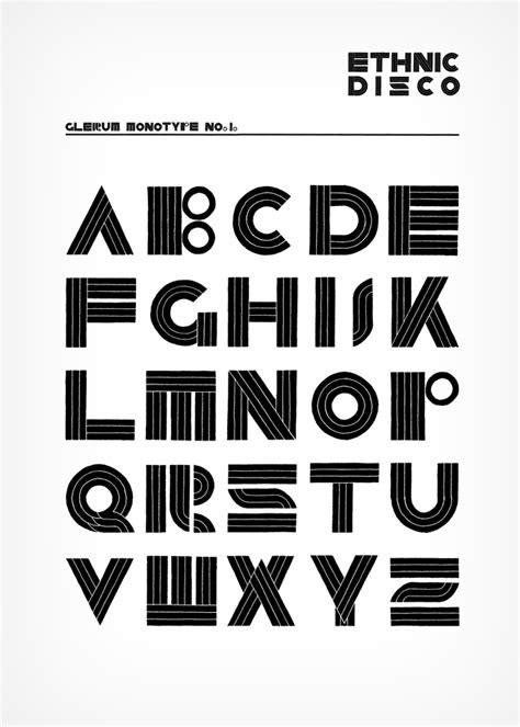 Ethnic Disco Monotype - Stefan Glerum