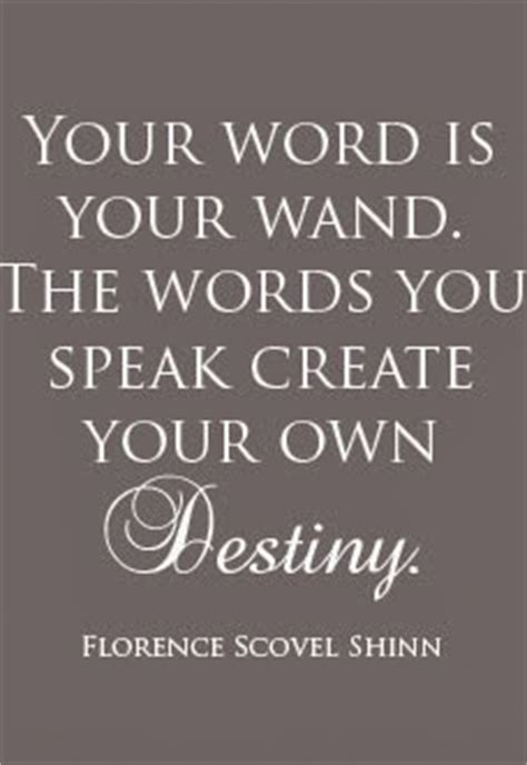 your word is a l your word is your wand florence scovel shinn limitless