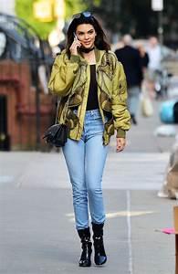 Top black black top kendall jenner jeans jacket bomber jacket streetstyle kardashians ...