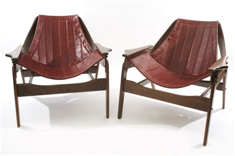 jerry johnson leather sling chairs modern furniture