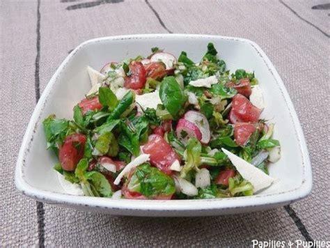 recette cuisine libanaise mezze fattouch ou fattouche salade libanaise au grillé et
