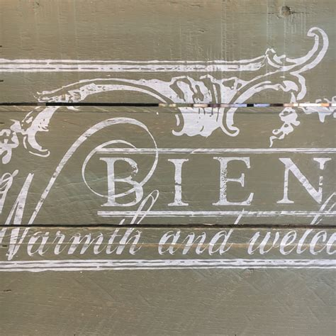 French 'Welcome' Reclaimed Wood Sign