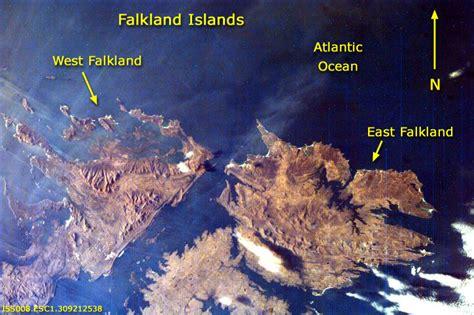 Mapa de Foto Satelite de las Islas Malvinas (Falkland