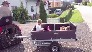 Anhänger Bordwand Selber Bauen : anh nger eigenbau f r rasentraktor die gartenfahrt youtube ~ Yasmunasinghe.com Haus und Dekorationen