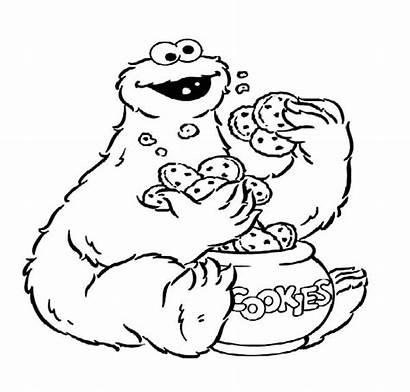 Cookie Coloring Monster Cookies Jar Pages Eat