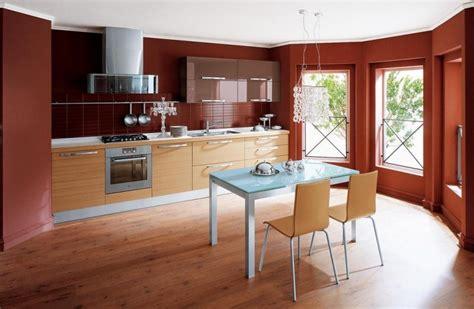 cuisine terre cuite peinture murale cuisine 50 exemples design bi et tricolores