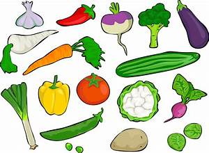 Clipart - Smorgasboard Of Vegetables
