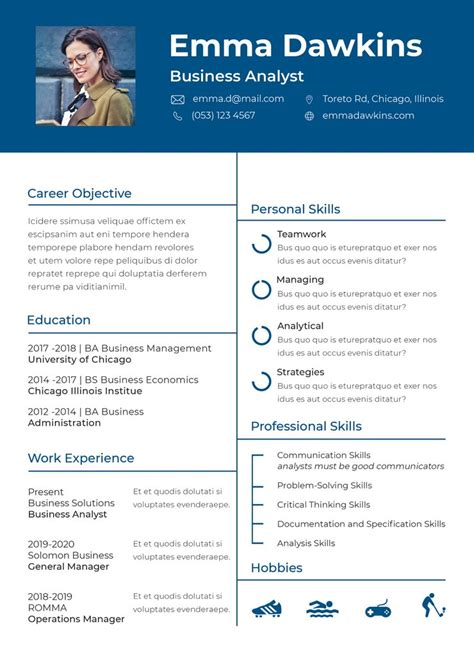 New Format For Cv 2013 by Free Basic Analyst Resume Cv Template In Photoshop Psd