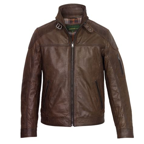 faux leather panel jacket mac 39 s brown leather jacket hidepark leather
