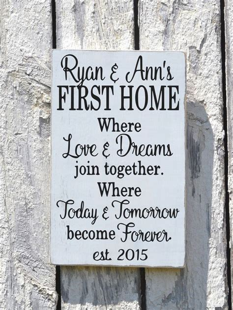 home house wooden sign rustic personalized