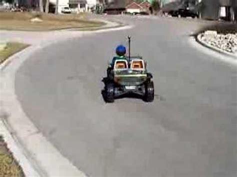 Modified Power Wheels Jeep Hurricane With Worried Mom
