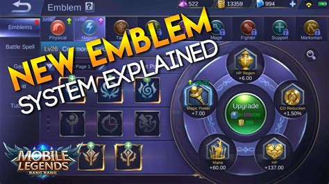 Mobile Legends New Emblem System