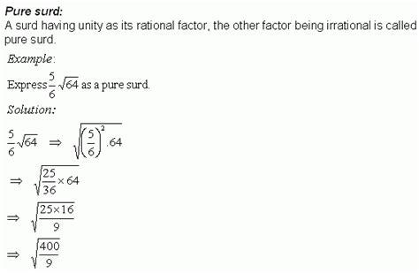 radicals or surds high school mathematics kwiznet