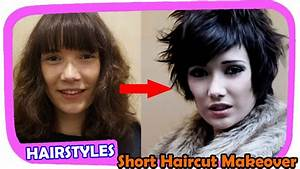 Beautiful Short Haircut Makeover #1 Extreme Hair Makeover ...