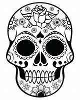 Coloring Skeleton Head Cool Printable Skulls Sugar Skull Mandalas Getcolorings Inside sketch template