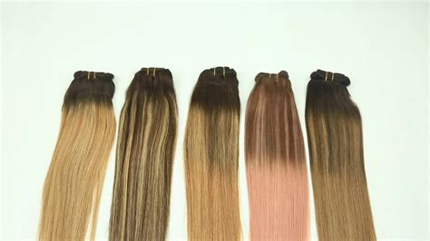 Double Drawn Two Tone Balayage Remy Clip In Hair Extension