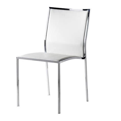 chaise design simili cuir blanc city