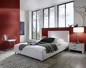 Extra Hohes Bett : sam polsterbett zarah in wei bett mit chrom farbenen f en modernes design kopfteil ~ Markanthonyermac.com Haus und Dekorationen