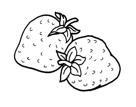 strawberry coloring pages    print