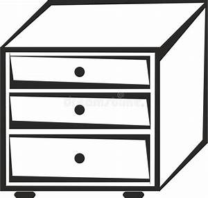 Cabinet with drawers stock vector. Illustration of ...