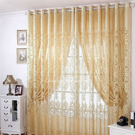 big jacquard craft beige cotton sheer curtain for living room