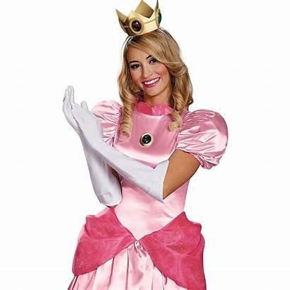 Peach Princess Mario Costume Super Bros Adult