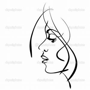 Girl Face Drawing Tumblr | Clipart Panda - Free Clipart Images