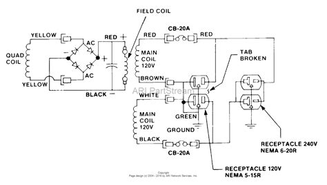 Homelite Wiring Diagram by Homelite Erl4400hd Generator Ut 03756 Parts Diagram For
