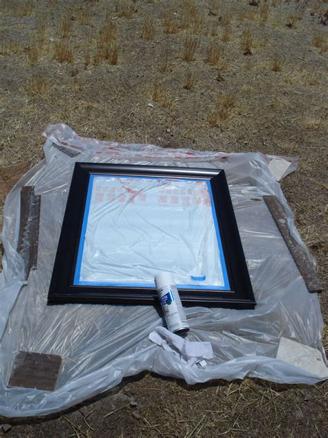 spray paint  mirror frame painted mirrors