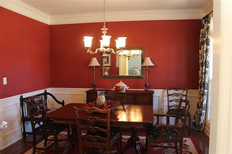 17. Dining Room Red Paint Ideas Of Custom Fascinating