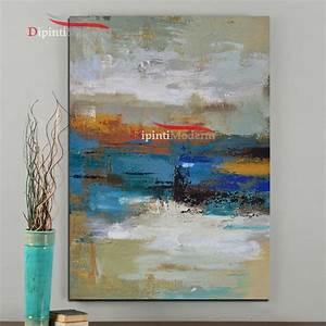 Quadro con paesaggio astratto sfumato Dipinti Moderni