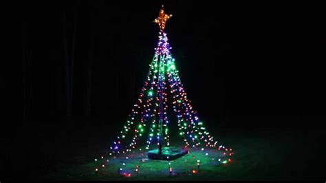 twinkling tree of lights diy from basketball hoop youtube