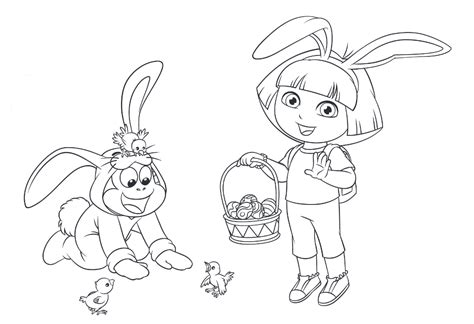 Lots Of Dora Coloring Pages And Printables