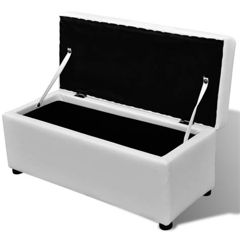 Where To Buy Ottoman - 3 set of faux leather storage ottoman benches white buy