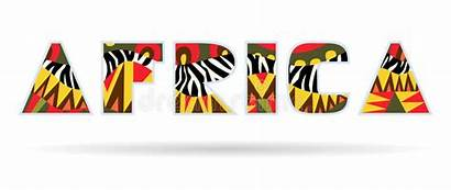 Africa Title Word African Letters Capital Bright