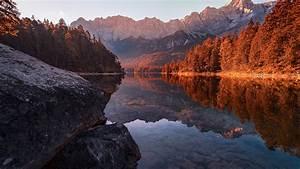 Fall, Germany, Lake, Nature, Reflection, Hd, Nature, Wallpapers