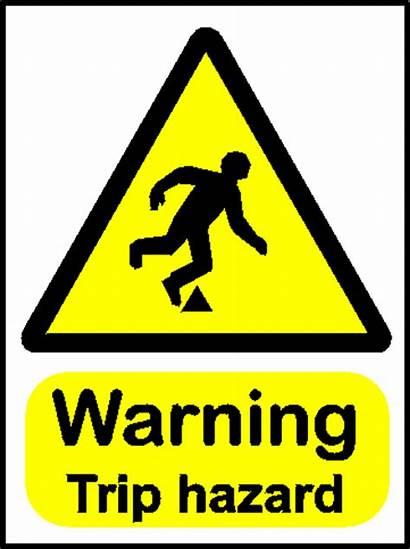 Hazard Trip Hazards Clipart Tripping Warning Sign